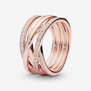 Pandora Sparkling & Polished Lines Ring